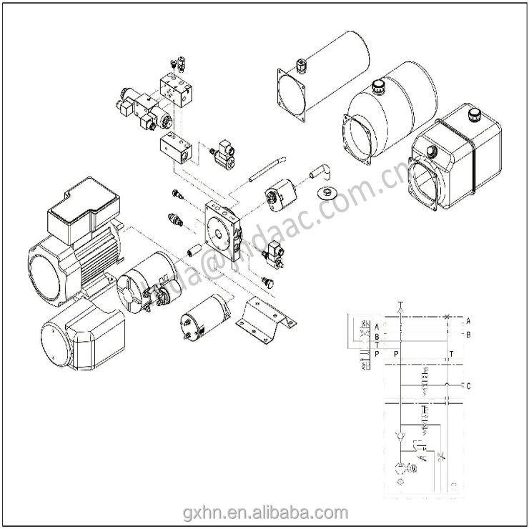 High Quality Hydraulic Pump Part Power Unit 12v Dc