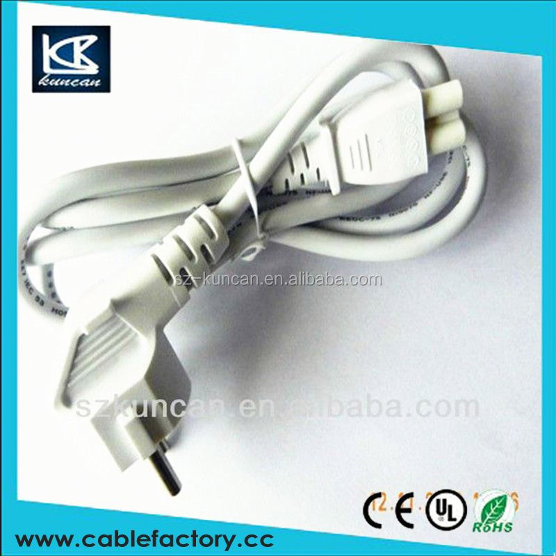Power Extension Cable SCHUKO Right Angle Plug to IEC C13 Female Sckt Lock Blk 2m