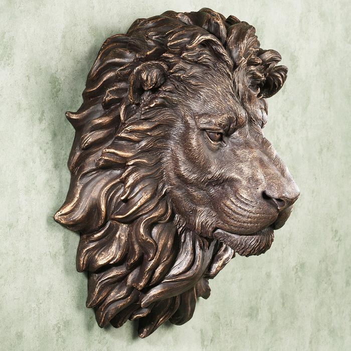 Directement Usine Bronze Lion T Te Sculpture Pour La