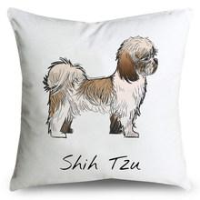 Мягкий чехол для подушки из полиэфирного волокна с рисунком милой собаки, украшение для дома(Китай)