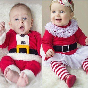 b1acb85b4 New Children Christmas Clothing Set Baby Boys and Girls Christmas Suit and  Dress Santa Claus Costumes