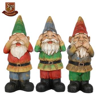 Custom Polyresin Seven Dwarfs Garden Gnome Statue Decor