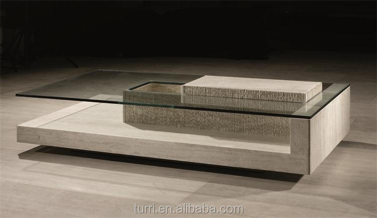 Modern Nature Travertine Marble Coffee Table For Home Furniture Used