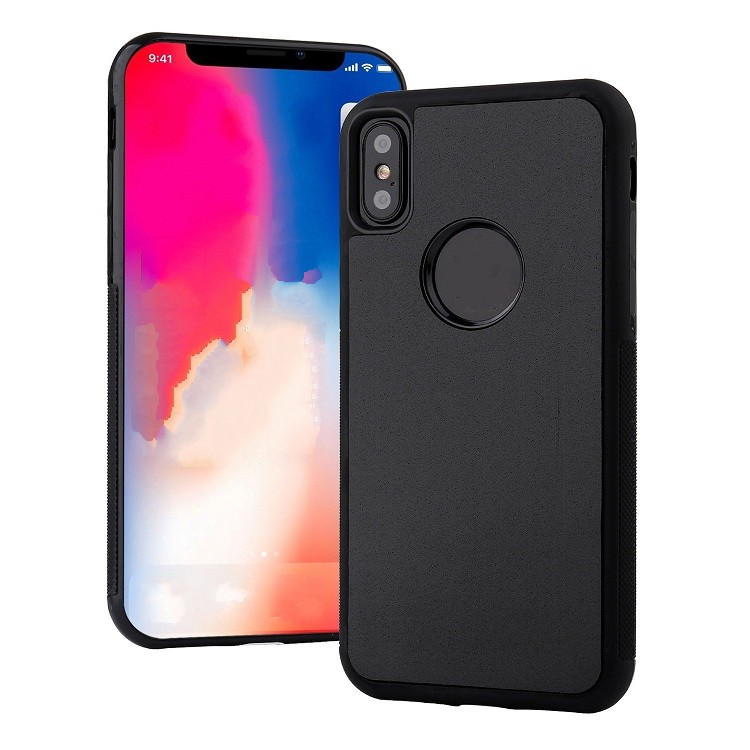 Magical Nano Sticky Anti Gravity Phone <strong>Case</strong> for iPhone Xs with Dust-proof Sticker