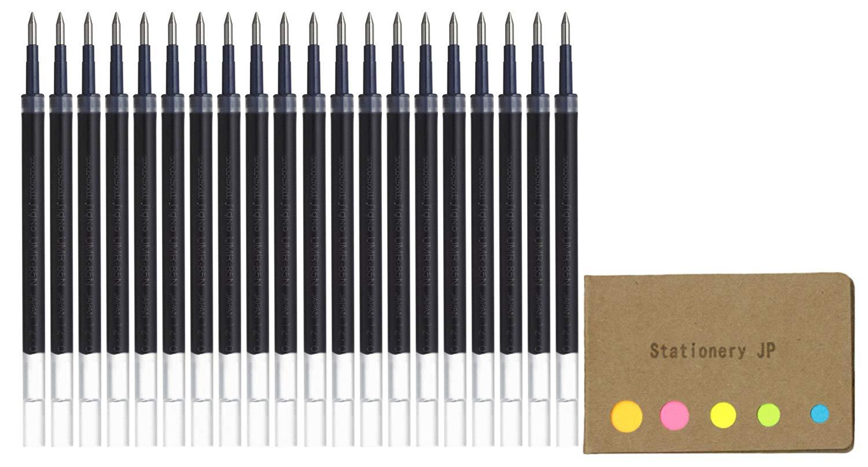 Uni-ball UMR-87 Refills for Gel Ink Ballpoint Pen, 0.7mm, Black Ink, 20-pack, Sticky Notes Value Set