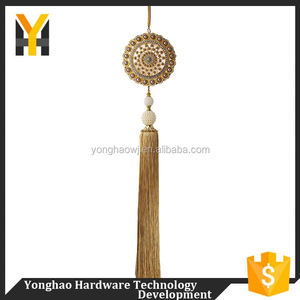 Directly sale custom design luxury fringe curtain tie backs tassel