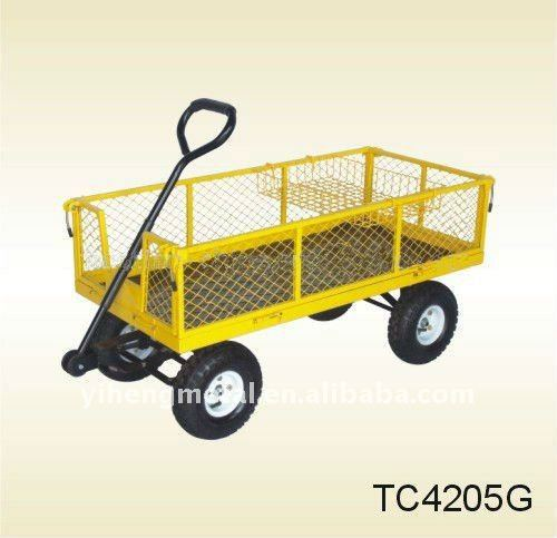 Towable garden wagon cart with fold down sides TC4205C