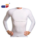 Wholesale Manufacturer Men's Rash Guard White Blank Long-Sleeve UPF 50+ Swim Shirt Rash Guard Surf