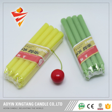 No drip paraffin wax stick colored candle
