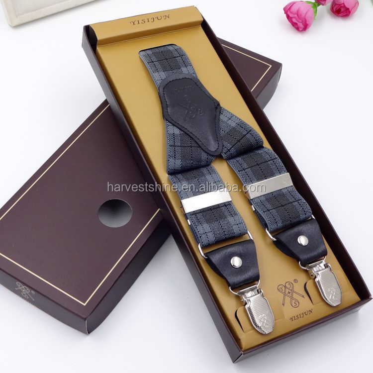 Fashion high quality British style men's suspenders for trousers 2016