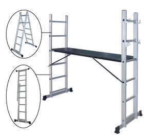 MULTIPURPOSE FOLDING ALUMINIUM LADDER MULTIFUNCTION ALUMINIUM LADDERS