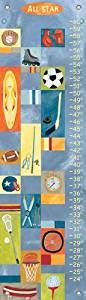 Oopsy Daisy All Star Boy Growth Chart by Donna Ingemanson 12 by 42-Inch by Oopsy Daisy