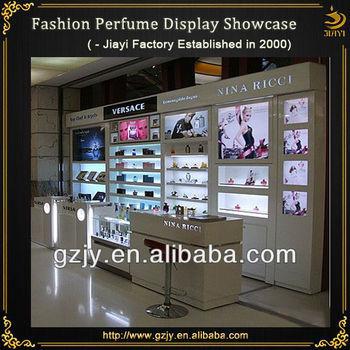 Glass Perfume Display Cabinet With Led Light And Perfume Display ...