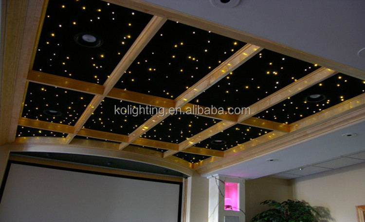 starry sky effect celing LED self-install fiber optic lighting kits with dimmer