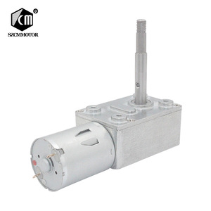 6v 12v 24v 1 to 150RPM DC Worm gear motor with customized screw shaft dc motor
