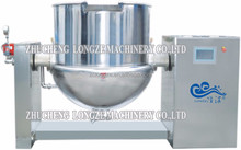 Large output cooking jacketed kettle