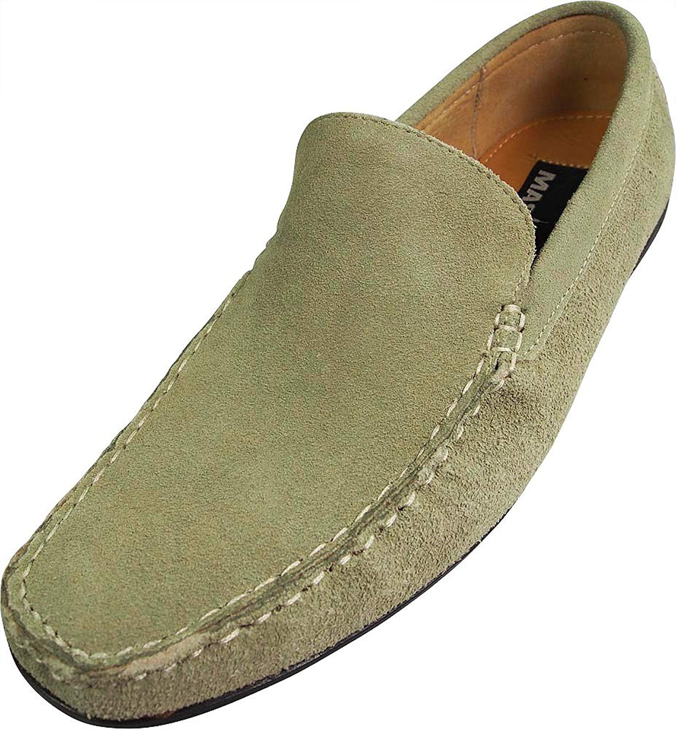cc285cf7384 Get Quotations · Masimo Mens Slip On Casual Dress Suede Driving Moccasin
