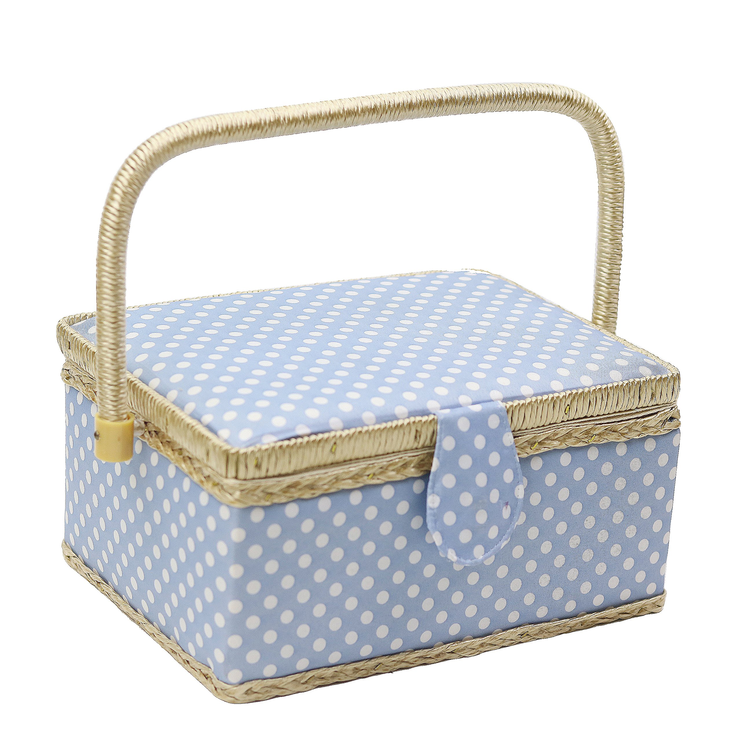 Wooden Sewing Basket Sewing Box Sewing Accessories Kit Good for Adults//Kids//Girls//Beginner//Professional