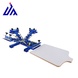 4 color manual t shirt screen printing machine equipment for sale