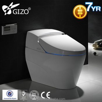 2018 Gizo simple modern shape LZ-0701 smart toilet electronic toilet