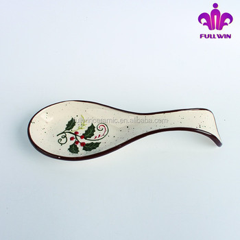 Hand-painted Ceramic Christmas Spoon Rest - Buy Ceramic Spoon Rest ...