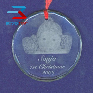 engraving crystal ornaments Christmas gifts