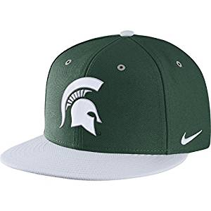 quite nice b3b13 1accf Get Quotations · Nike Men s Michigan State Spartans Green True Adjustable  Performance Hat (Mich St, ADJUSTABLE)
