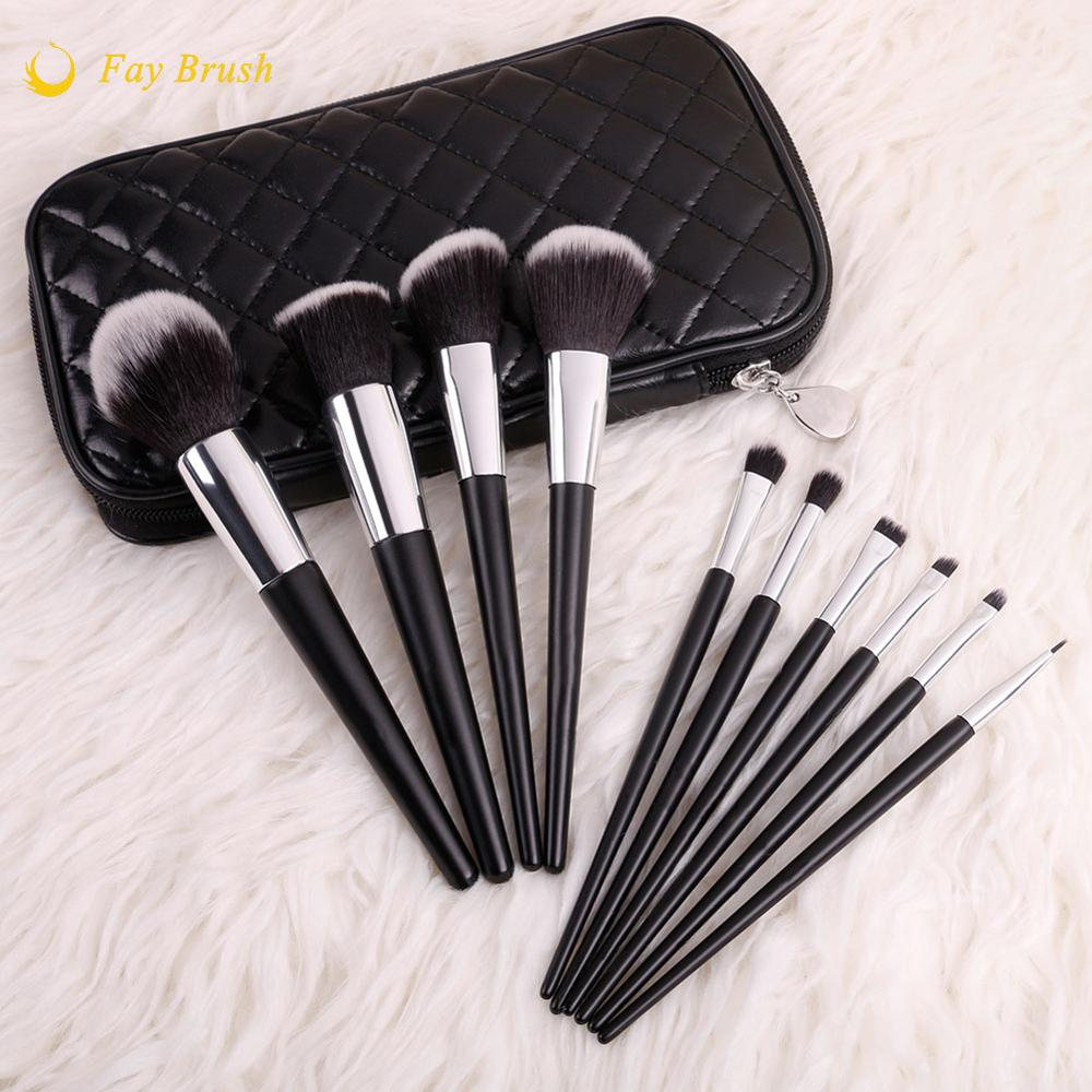 Best Wholesale 10 pcs Makeup <strong>Brush</strong> with Bag Professional <strong>Brush</strong> Set for Making Up