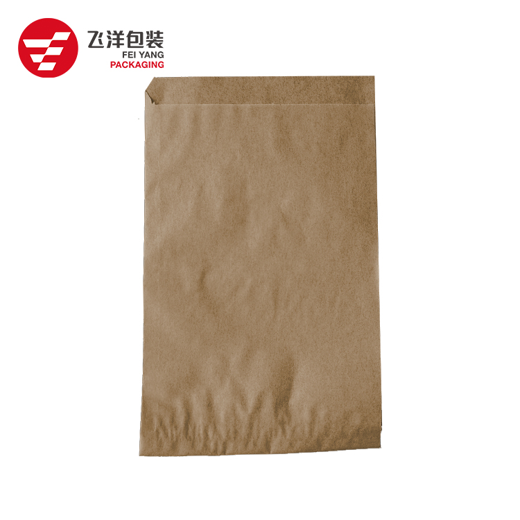 Wholesale Price Customized Brand brown takeaway snack packing oil proof food paper bag