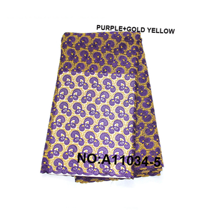 Catherine New Arrival Gold Yellow Color Embroidery Thailand Lace Fabrics Guipure