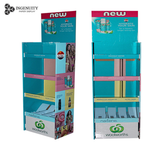 Cardboard Advertising Corrugated cardboard candy display racks paper for Supermarket promotion