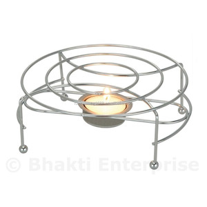 Round Food Warmer Chrome Chafing Dish With Candle Tea Light Table Top