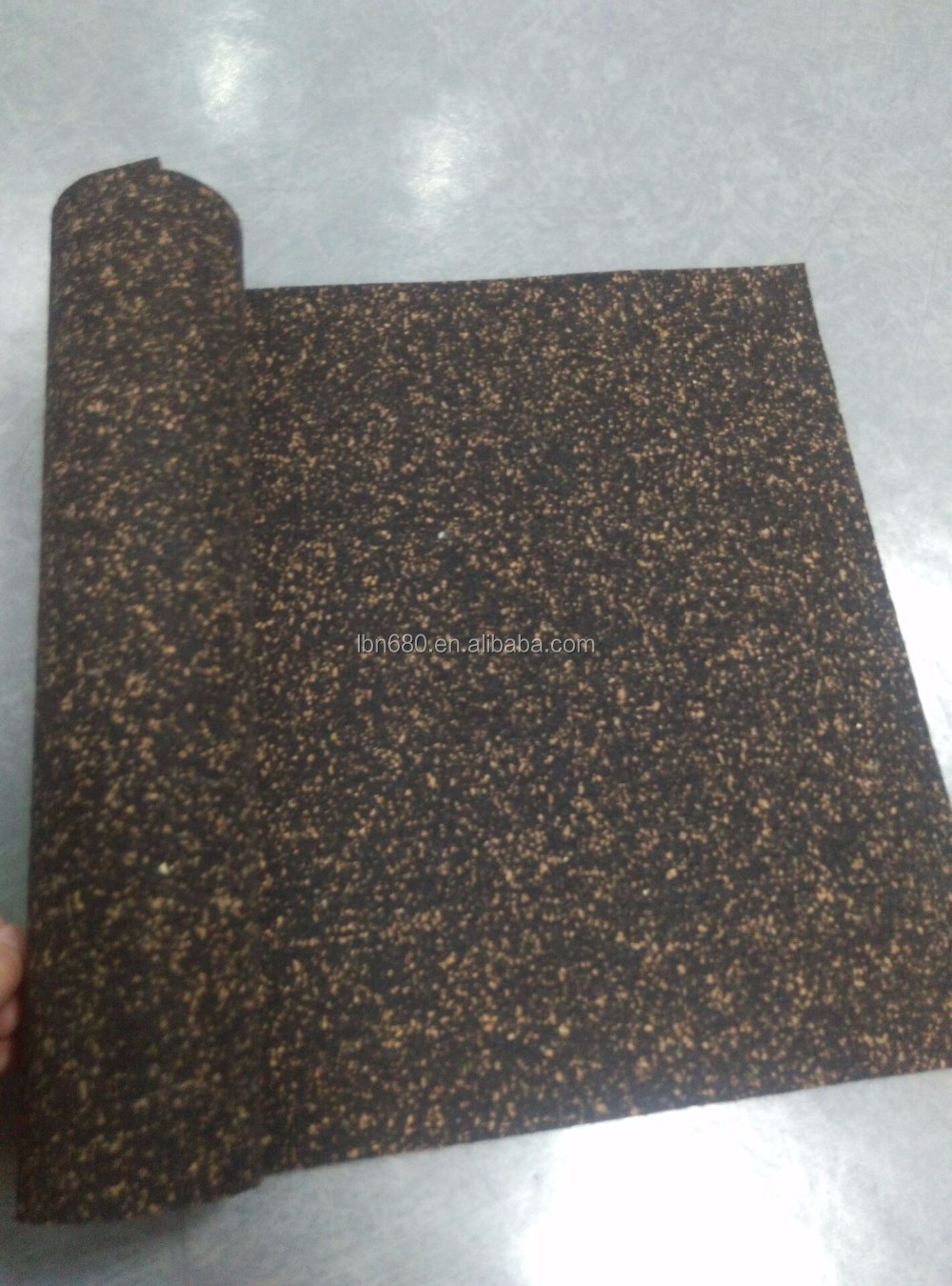 Eco Rubber Foam Soundproof Underlay For Carpet Or Wood
