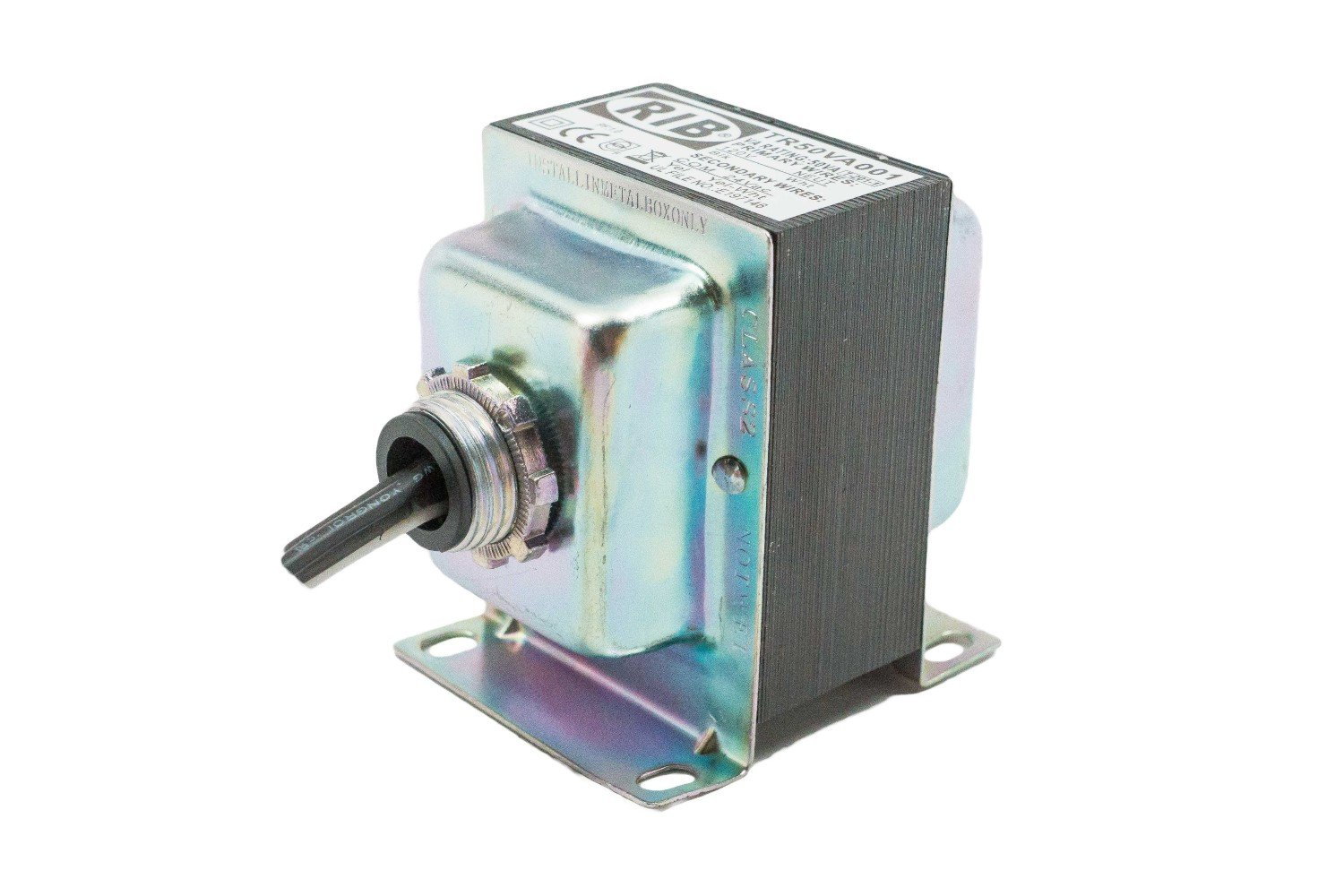 Functional Devices TR50VA001 Transformer, 50Va, 120 to 24 Vac, Foot and Single Threaded Hub Mount