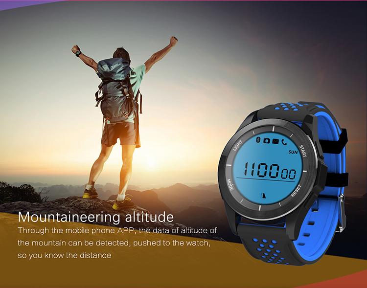 IP68 Waterproof Outdoor Sport Smart Watch, Professional Waterproof Sport Smartwatch with Android and iOS Smartphones