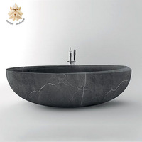 High quality modern natural freestanding limestone marble bathtub for sale NTMBA-030Y