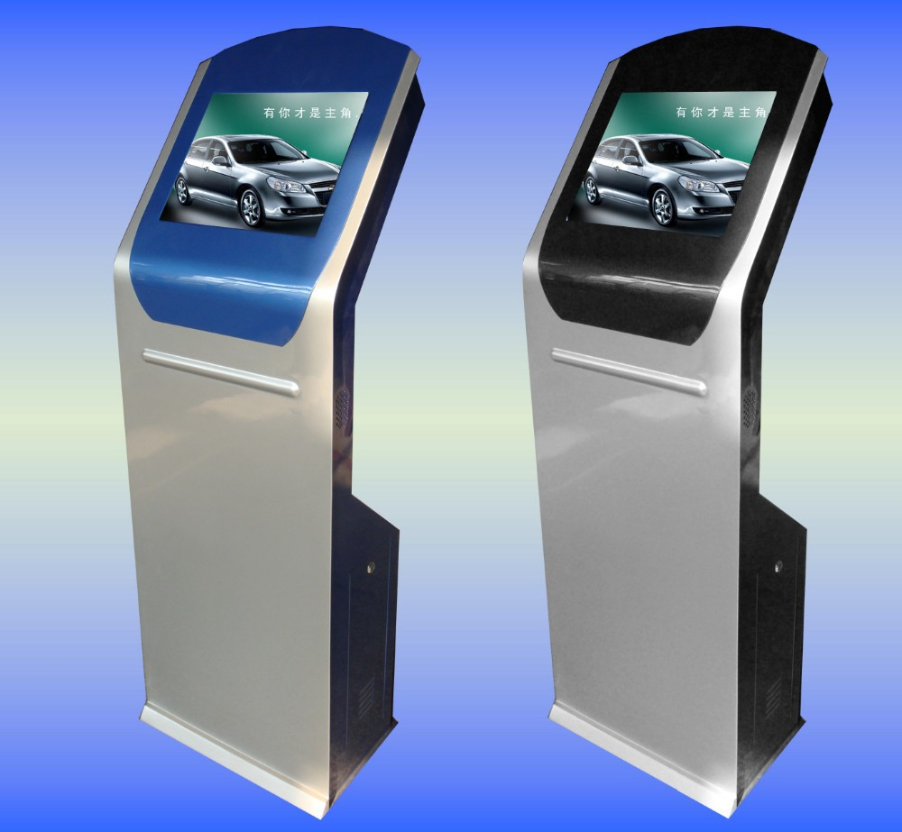 19 inch Floor Stand LCD Touch Computer Kiosk, kiosk stands for malls