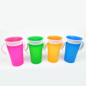 BPA free Silicone Magic kid toddler 360 baby water cup sippy train cup