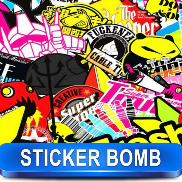 Guangzhou Elang Pemasok Serat Karbon Terbaru Grafiti Stiker Vinyl Mobil