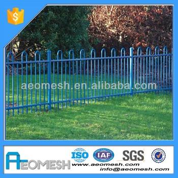 Most General Perimeter Fencing Idea, Backyard Border Metal Garden Fencing