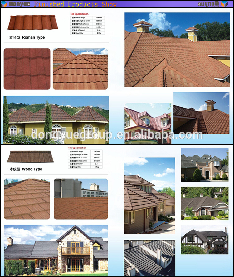 High Quality Stone Chip Coated Metal Roofing Sheet Stone Coated ...