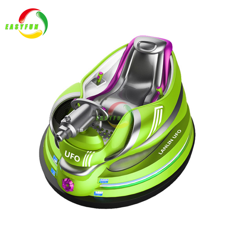 Luxury Arcade Fiberglass Battery Operated Bumper Car For Kids Ride