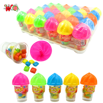 chaozhou candy bubble gum in ice cream shape jar