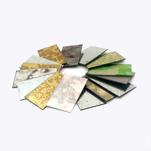 5mm thickness different color decorative wall mirror antique for family wall decoration