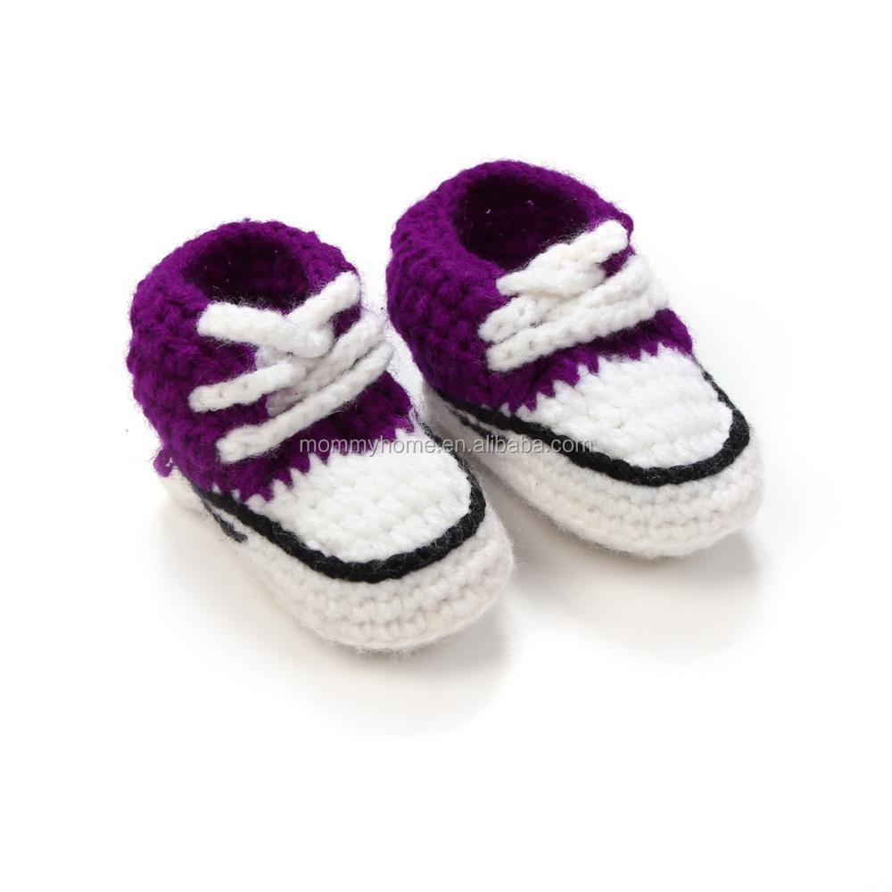 Suave Del Bebé Del Ganchillo Botines Patrón Zapatillas Zapatos ...