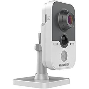 Hikvision IR Cube Network Camera DS-2CD2412F-IW - Network Surveillance Camera - Outdoor - Color (Day&Night) - 1.3 MP - 1280 X 960 - Wi-Fi - Gray, White