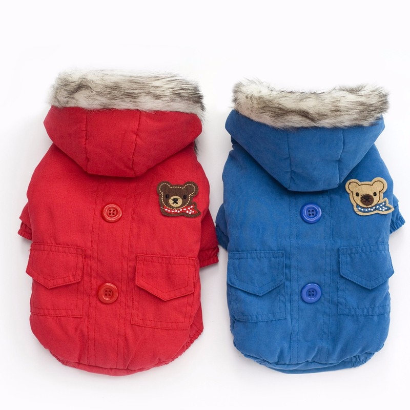 Keep Warm Dog Coat with Hat Factory Sell Directly