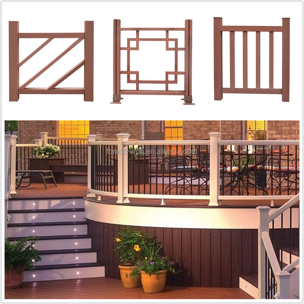 Outdoor Wrought Iron Stair Railings Used Wrought Wpc Railing Wpc Stair  Railing Cost