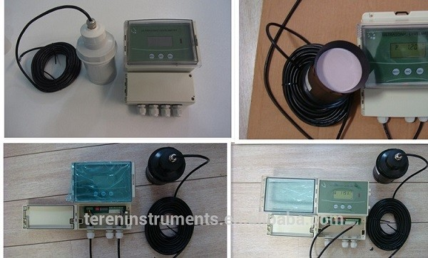 Split Jenis IP67 Ultrasonic Water Level Meter, Tingkat Pemancar Ultrasonic Open Channel Flowmeter