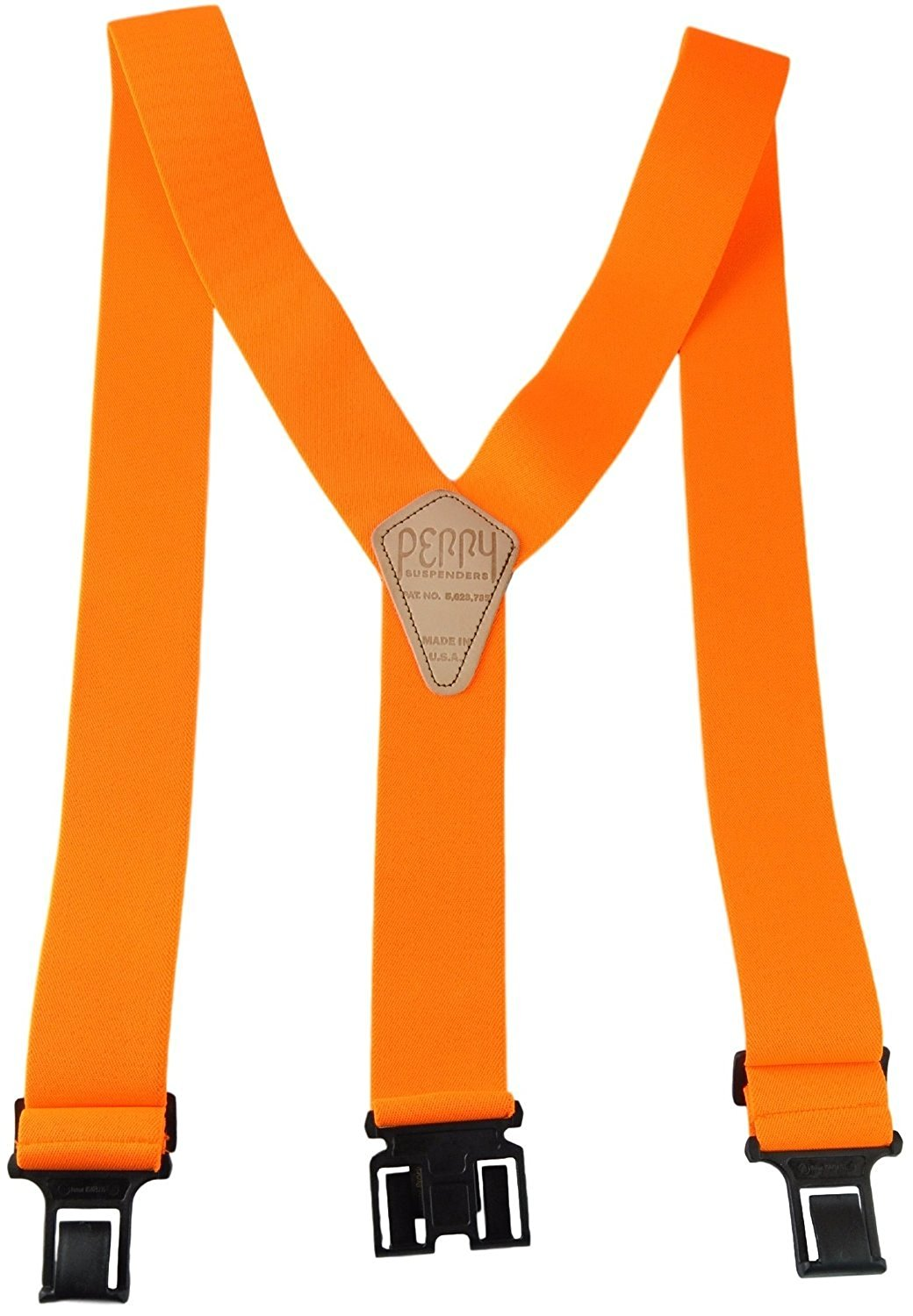 Perry Products SN200 Men's Clip-On 2-in Suspenders(Tall, Orange)